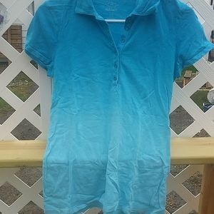 Blue Ombre Collared Summer Tee